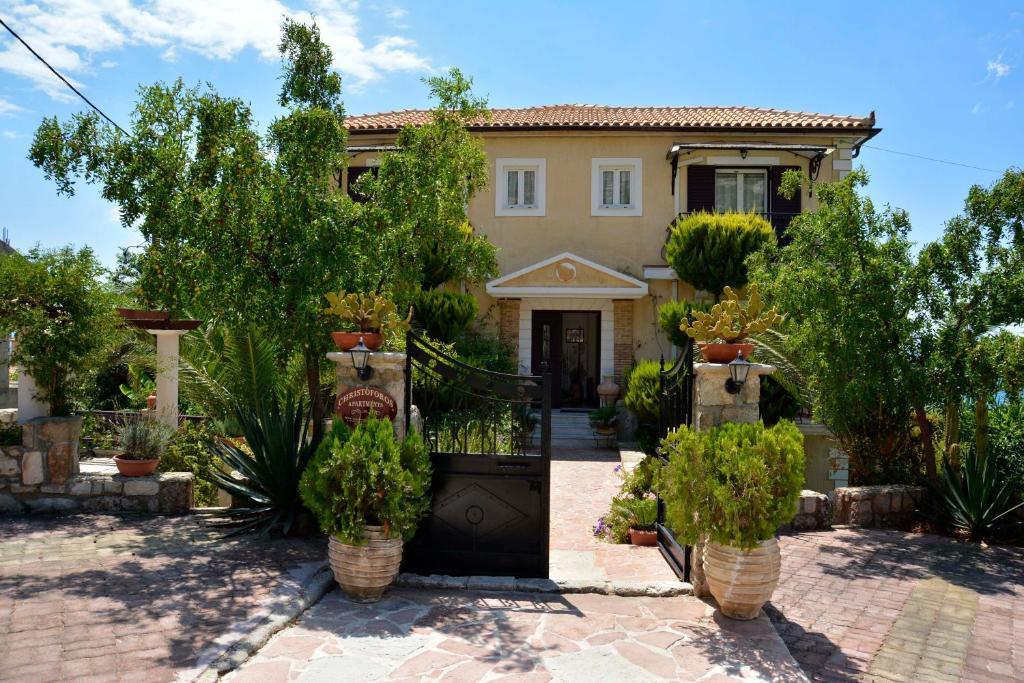 A garden outside Christoforos Apartments