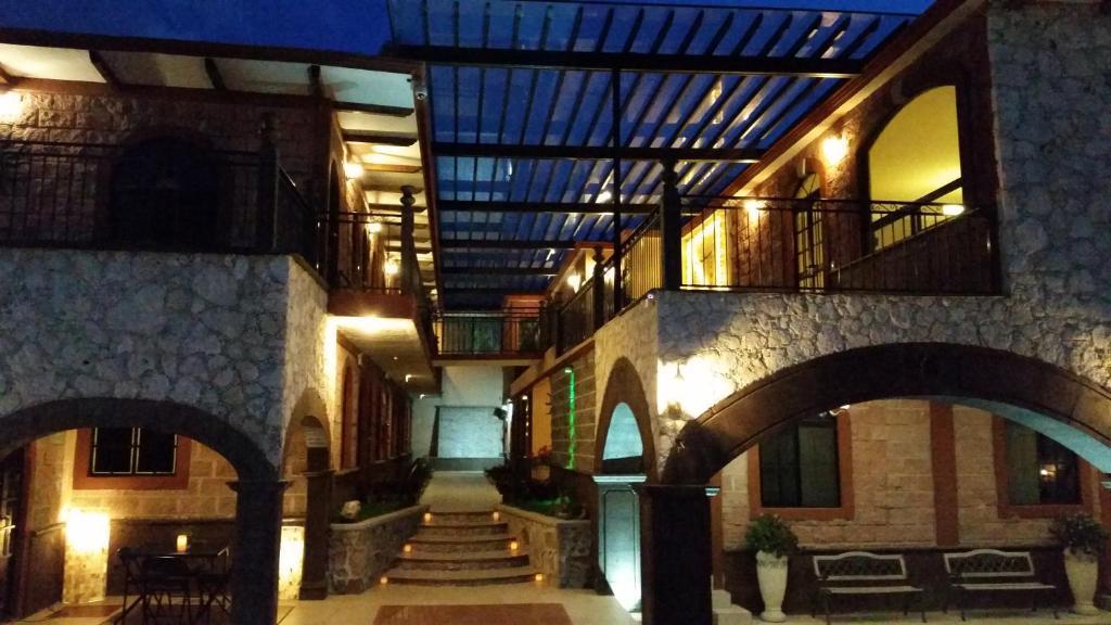 The facade or entrance of Hotel Villa Bernal