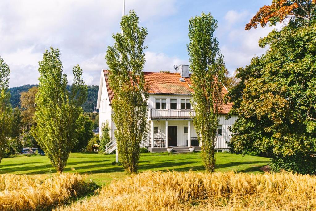 En trädgård utanför Villa Orrbacken