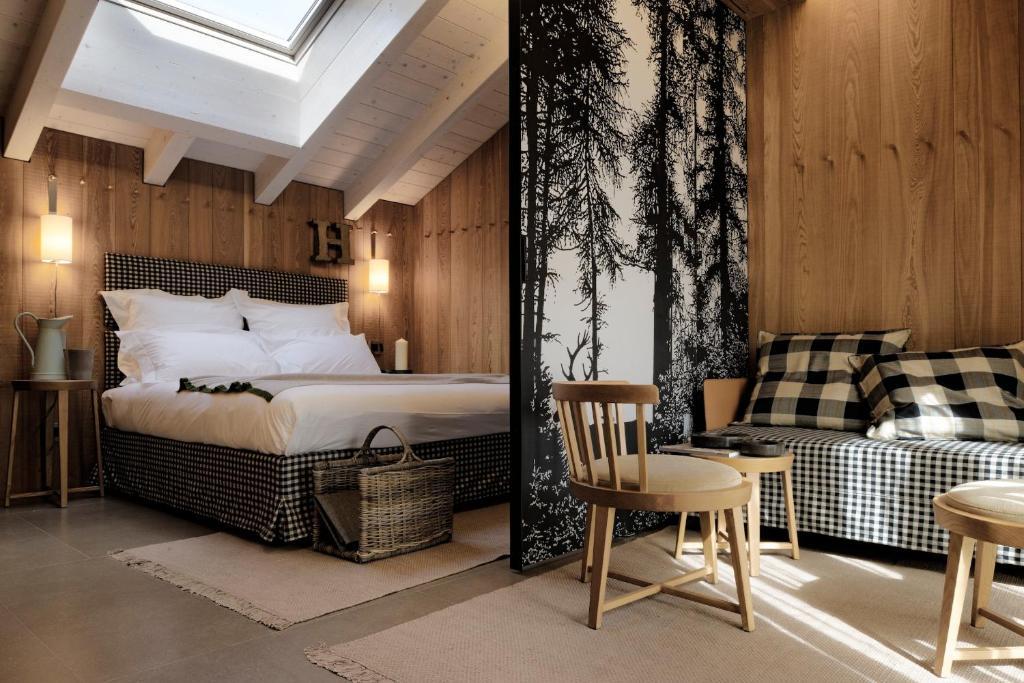 Letto o letti in una camera di Eden Hotel