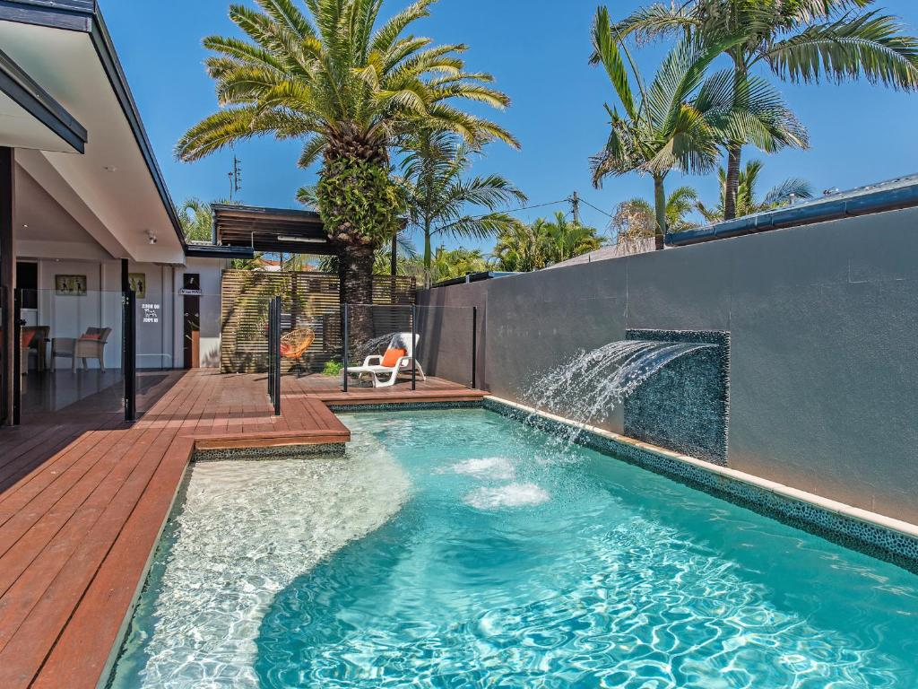 The swimming pool at or near Marcoola House, Pet Friendly, Sunshine Coast