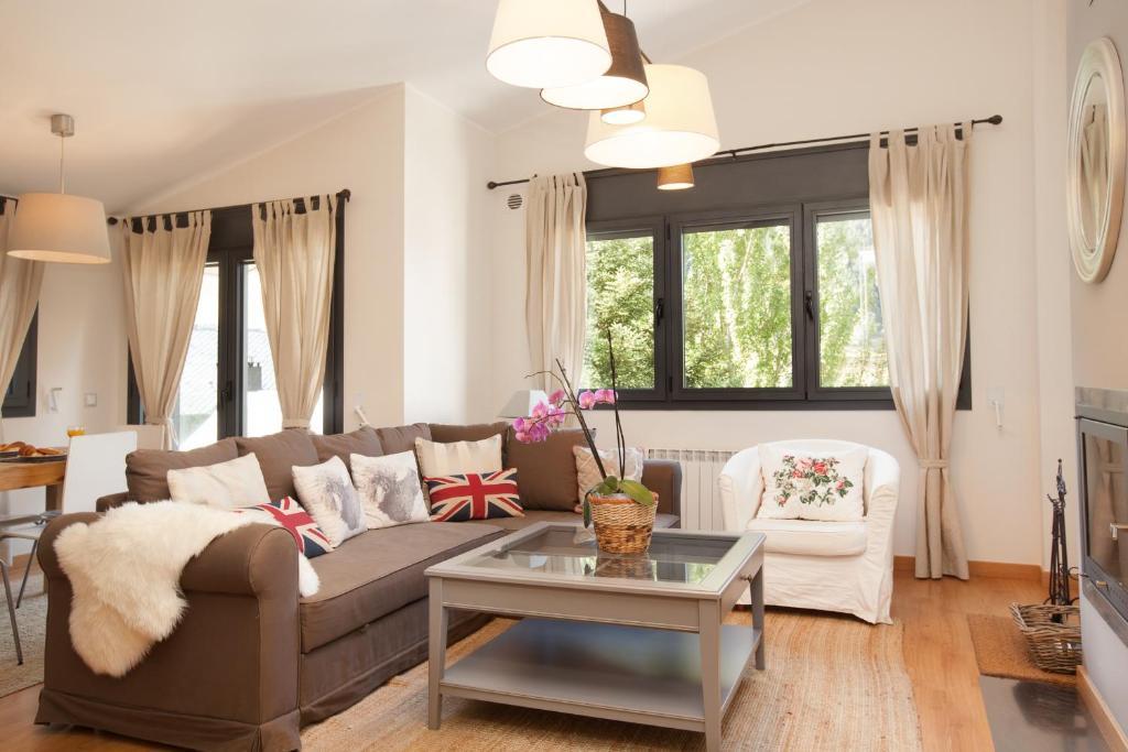 Zona de estar de Tarter Mountain Suites