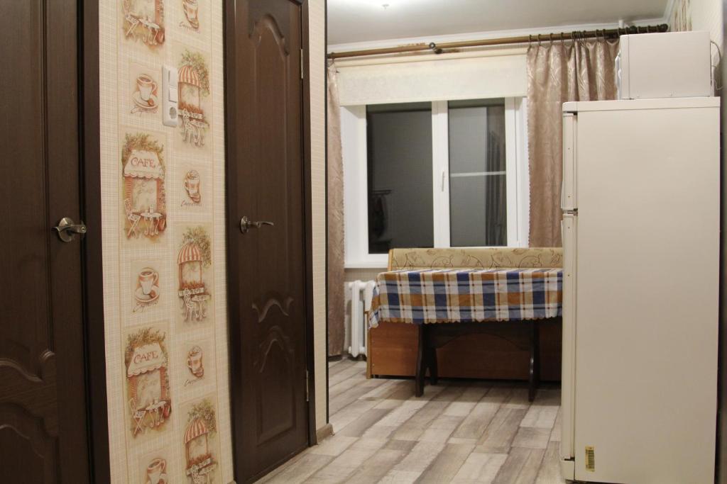Двухъярусная кровать или двухъярусные кровати в номере Апартаменты в Голубых озерах