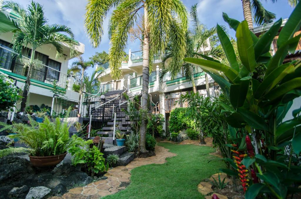 A garden outside Turtle Inn Resort