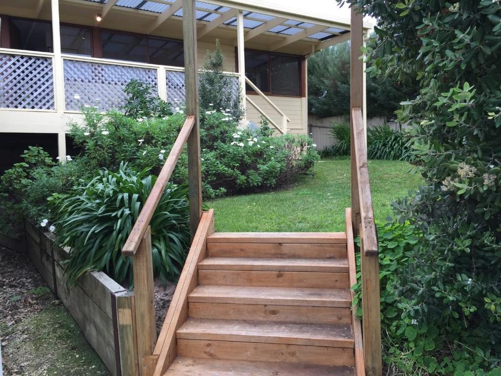 A porch or other outdoor area at The Shelter @ Robe