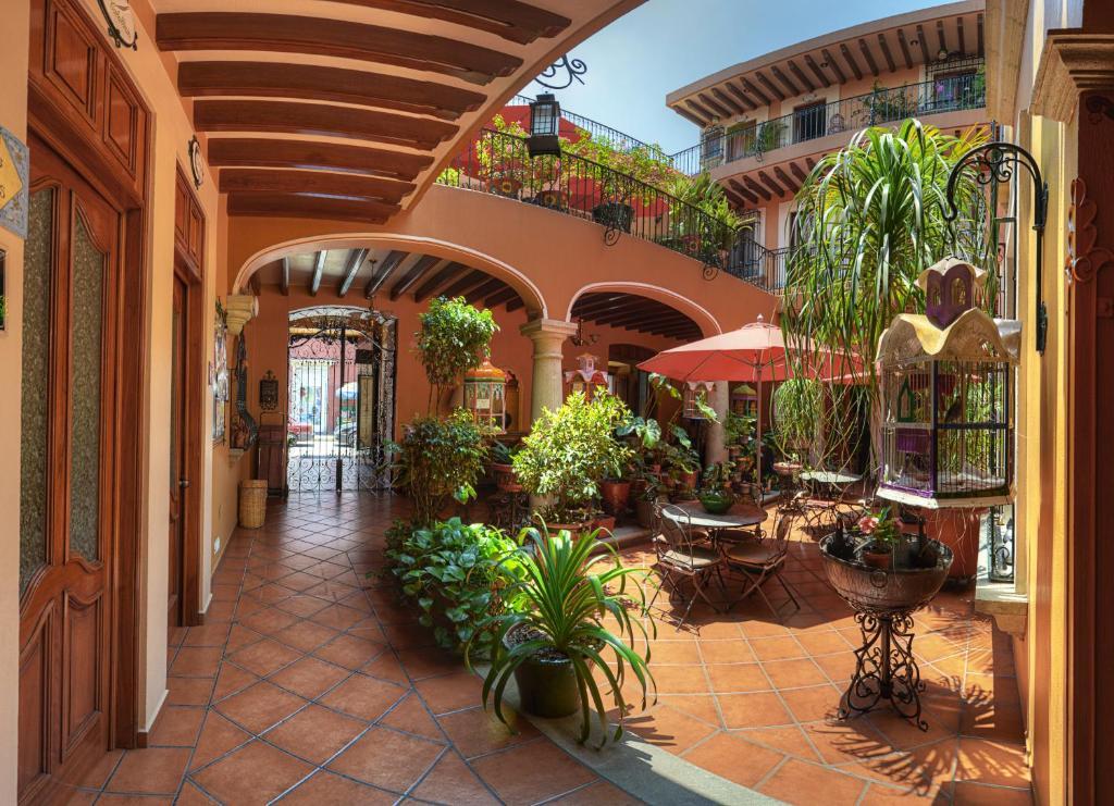 Un restaurante o sitio para comer en Hotel Boutique Parador San Miguel Oaxaca