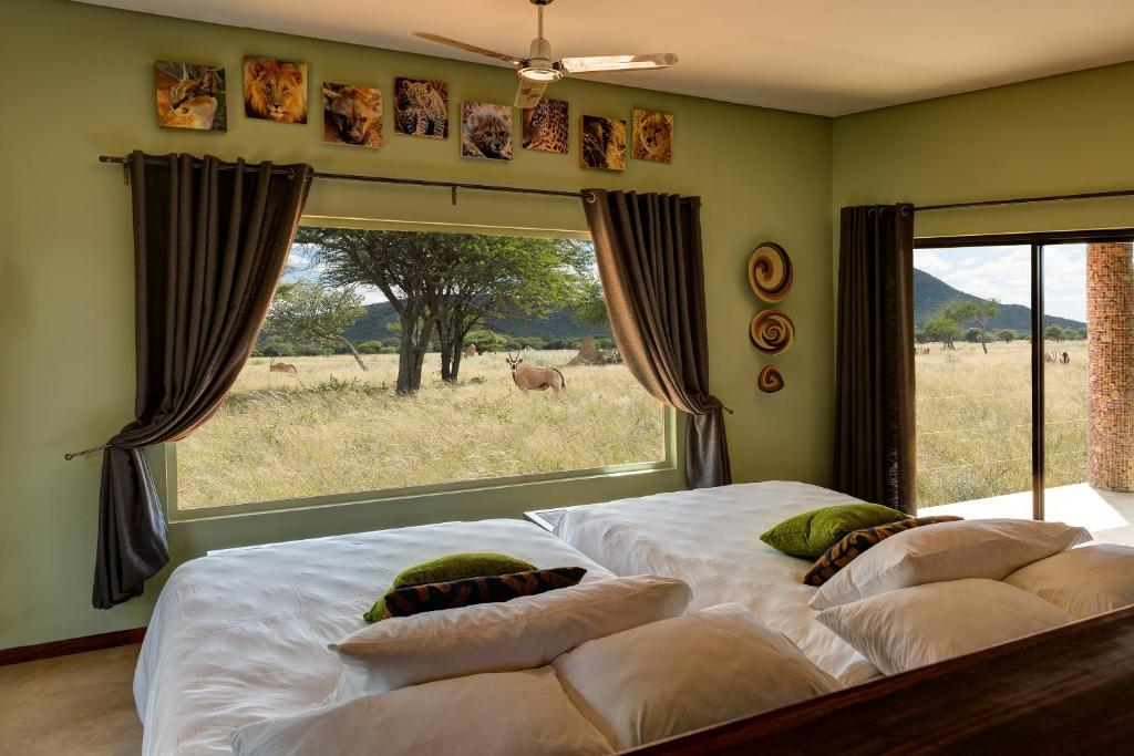 A room at Okonjima Plains Camp