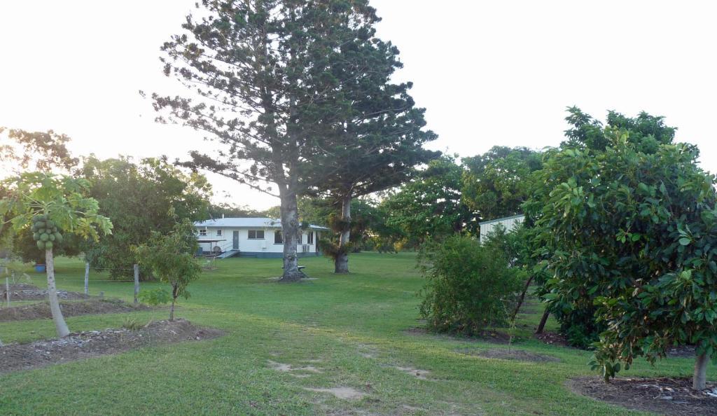 A garden outside Elliot River Retreat
