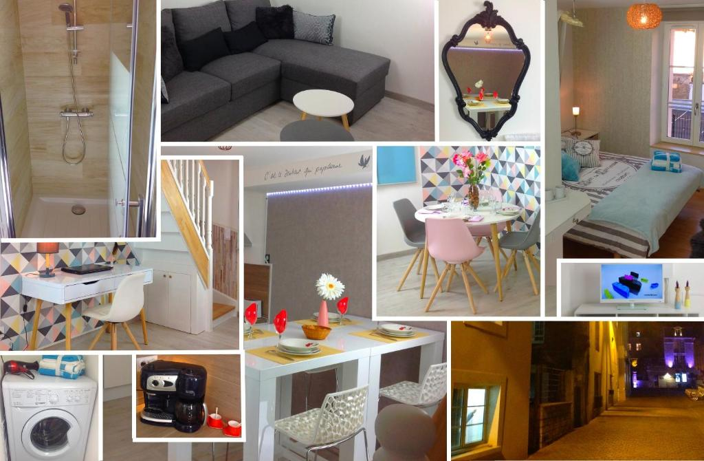 A restaurant or other place to eat at Appartement Triplex