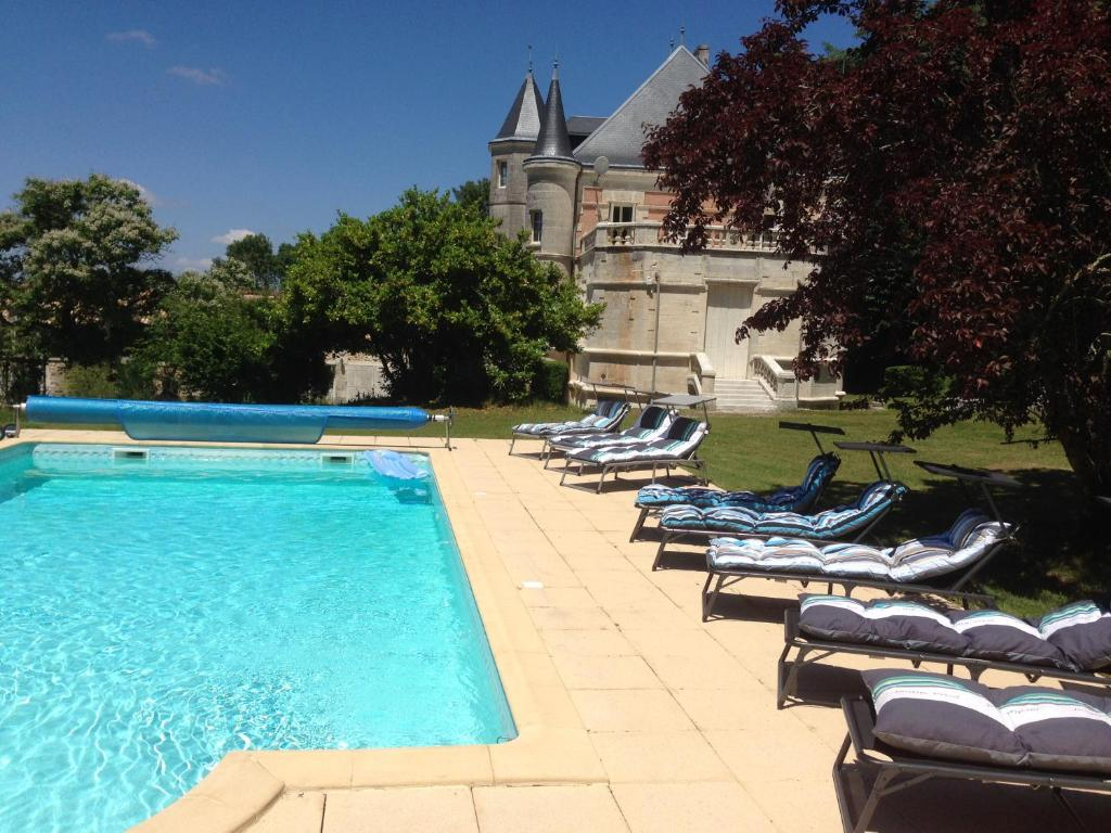 The swimming pool at or near Chateau Charbontiere