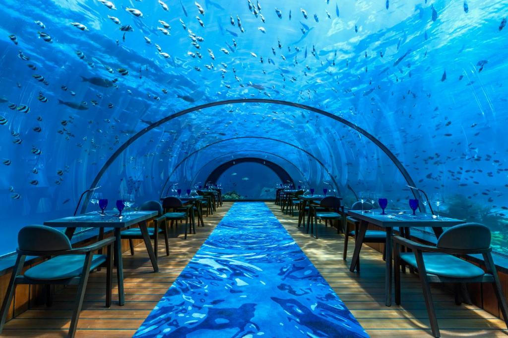 A restaurant or other place to eat at Hurawalhi Island Resort