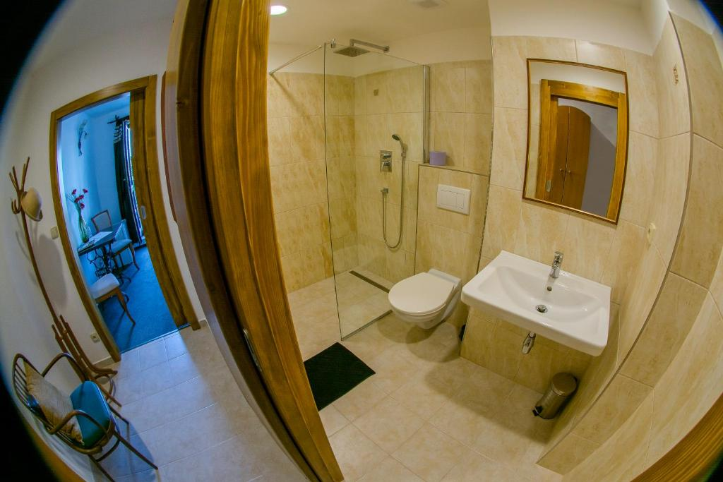 Koupelna v ubytování Hotel Panský Dům Žamberk
