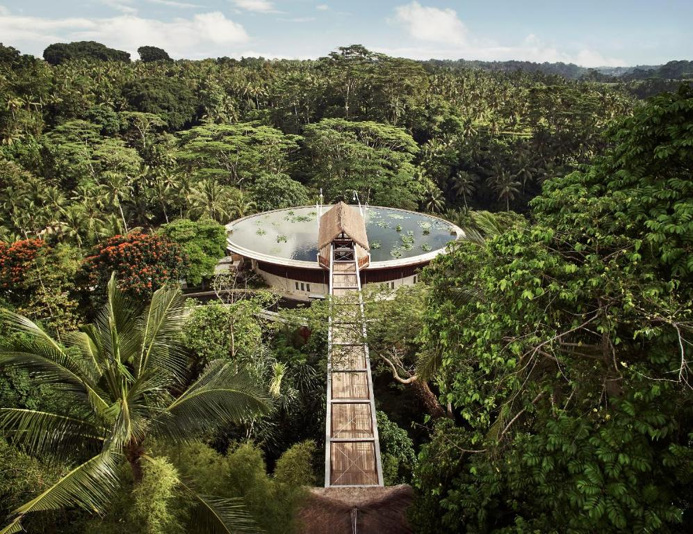 A bird's-eye view of Four Seasons Resort Bali at Sayan