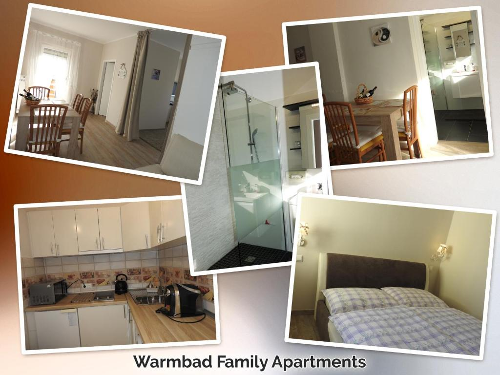 A kitchen or kitchenette at Warmbad Apartments