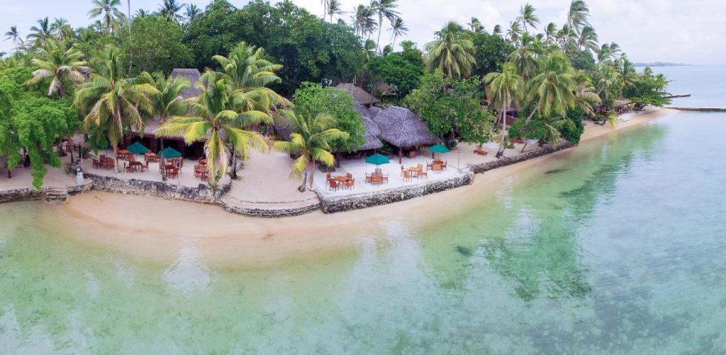 A bird's-eye view of Toberua Island Resort