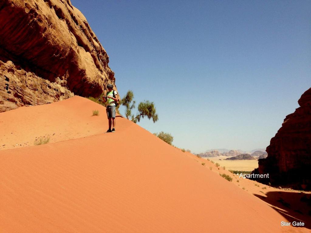 Star Gate in the desert Wadi Rum