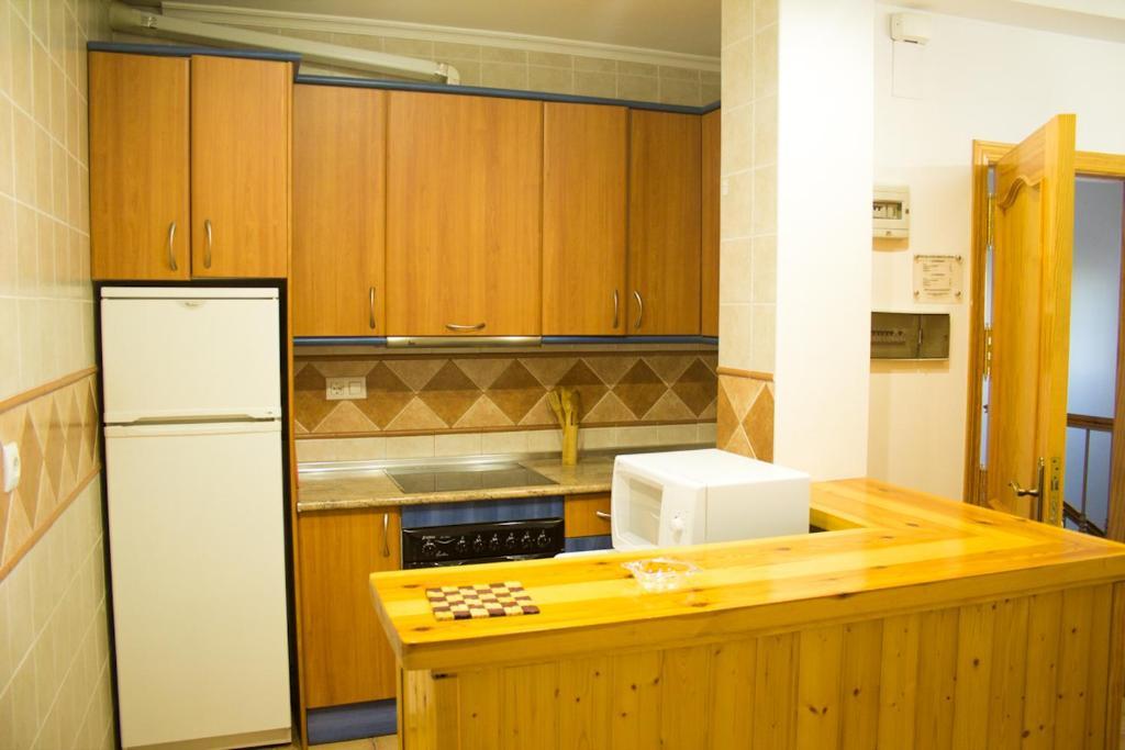A kitchen or kitchenette at Apartmentos Corona