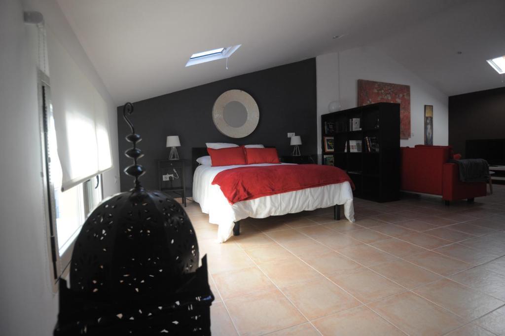 Cama o camas de una habitación en La casa de Los Moralejos
