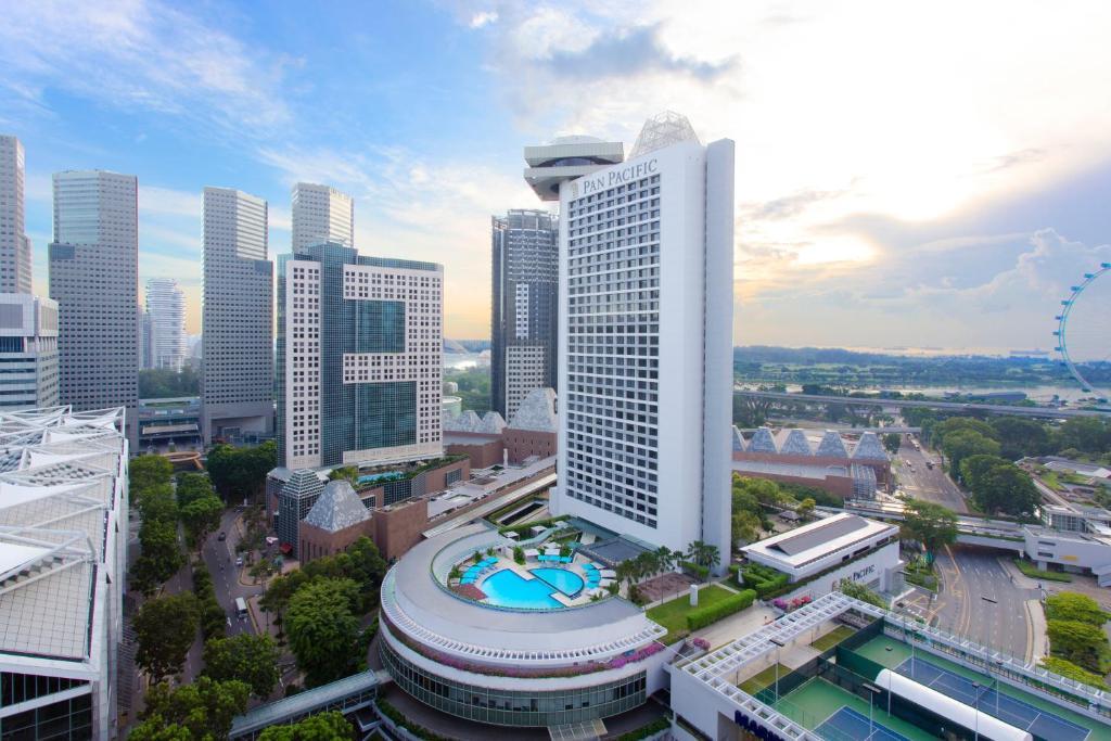 A bird's-eye view of Pan Pacific Singapore