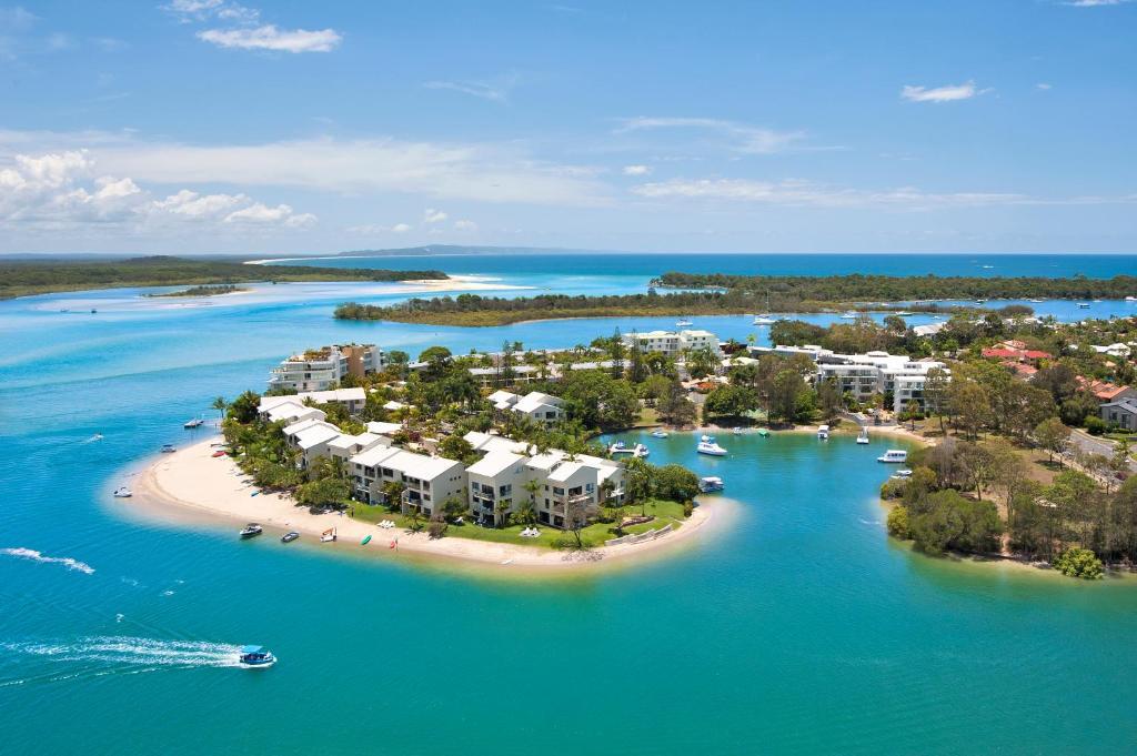 A bird's-eye view of Culgoa Point Beach Resort