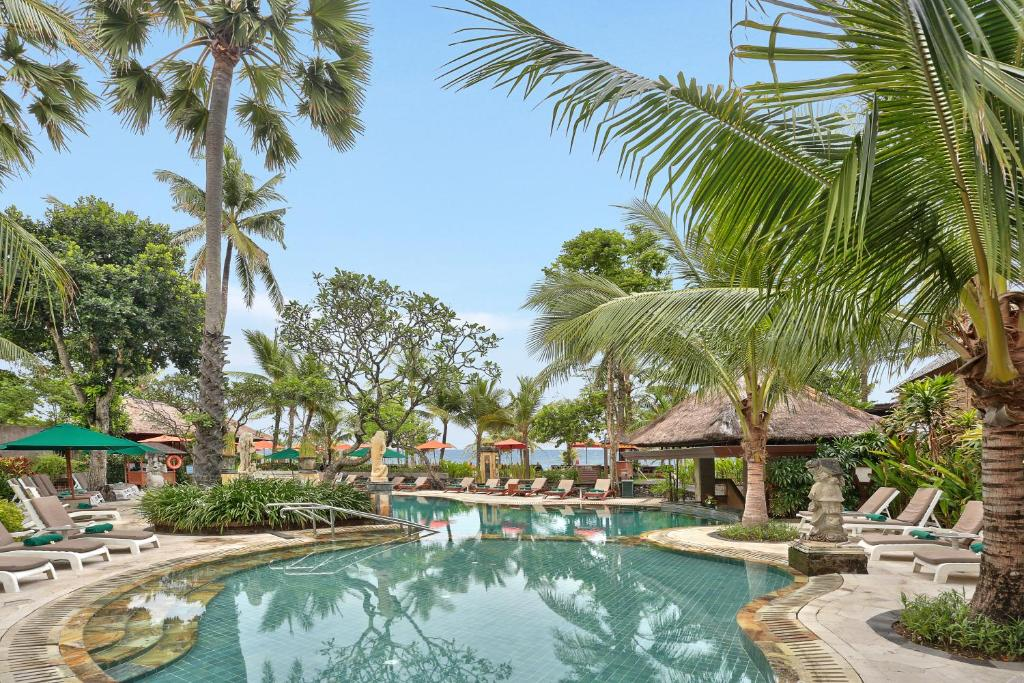 The swimming pool at or close to Legian Beach Hotel