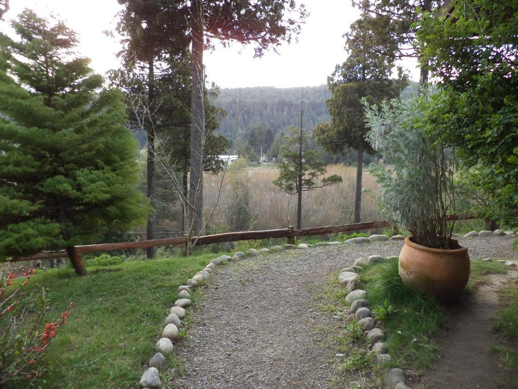 A garden outside Albergue Gaia