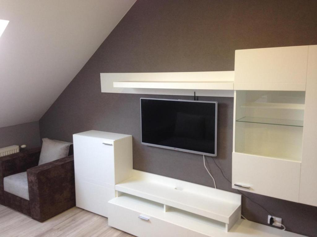 A television and/or entertainment center at Apartment on Nezalezhnosti Embankment