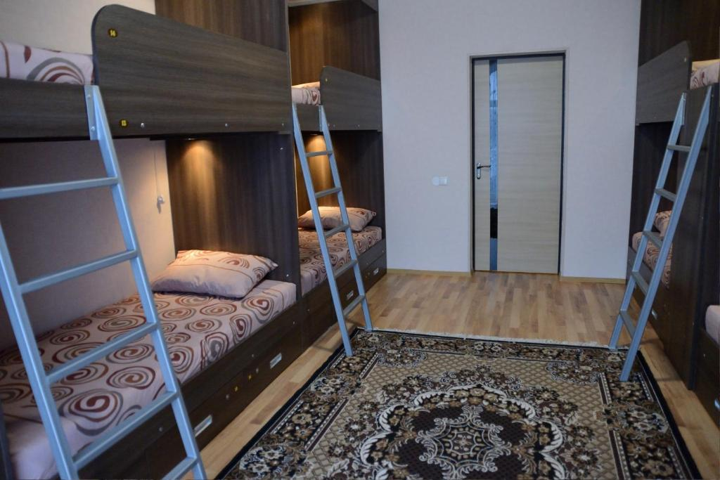 A bunk bed or bunk beds in a room at Rivne Hostel