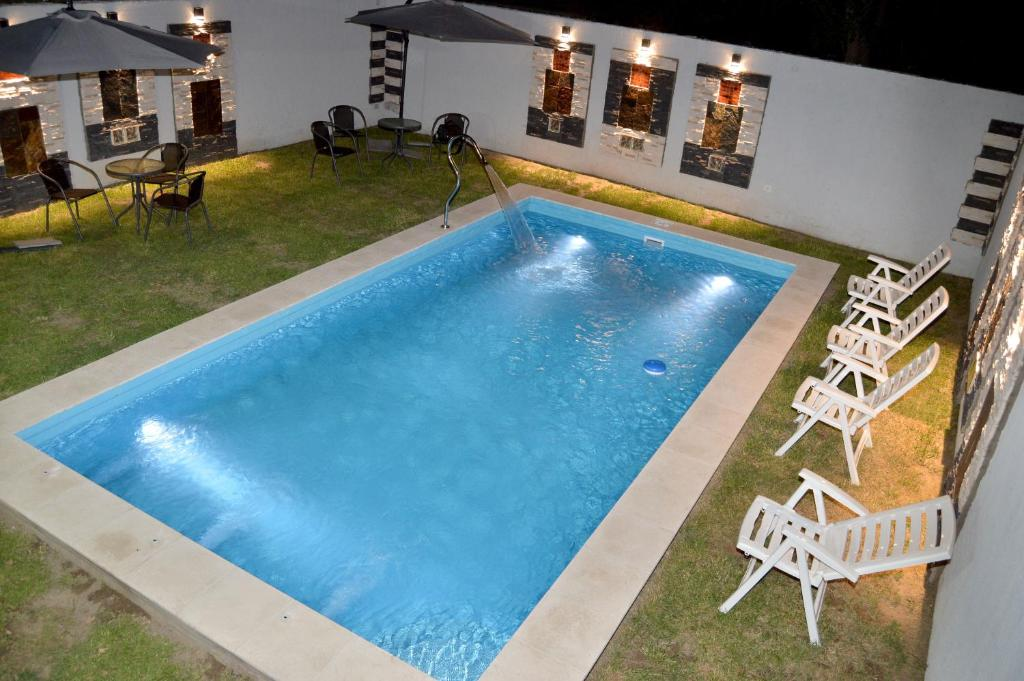 A view of the pool at Hosteria Tia Florita or nearby