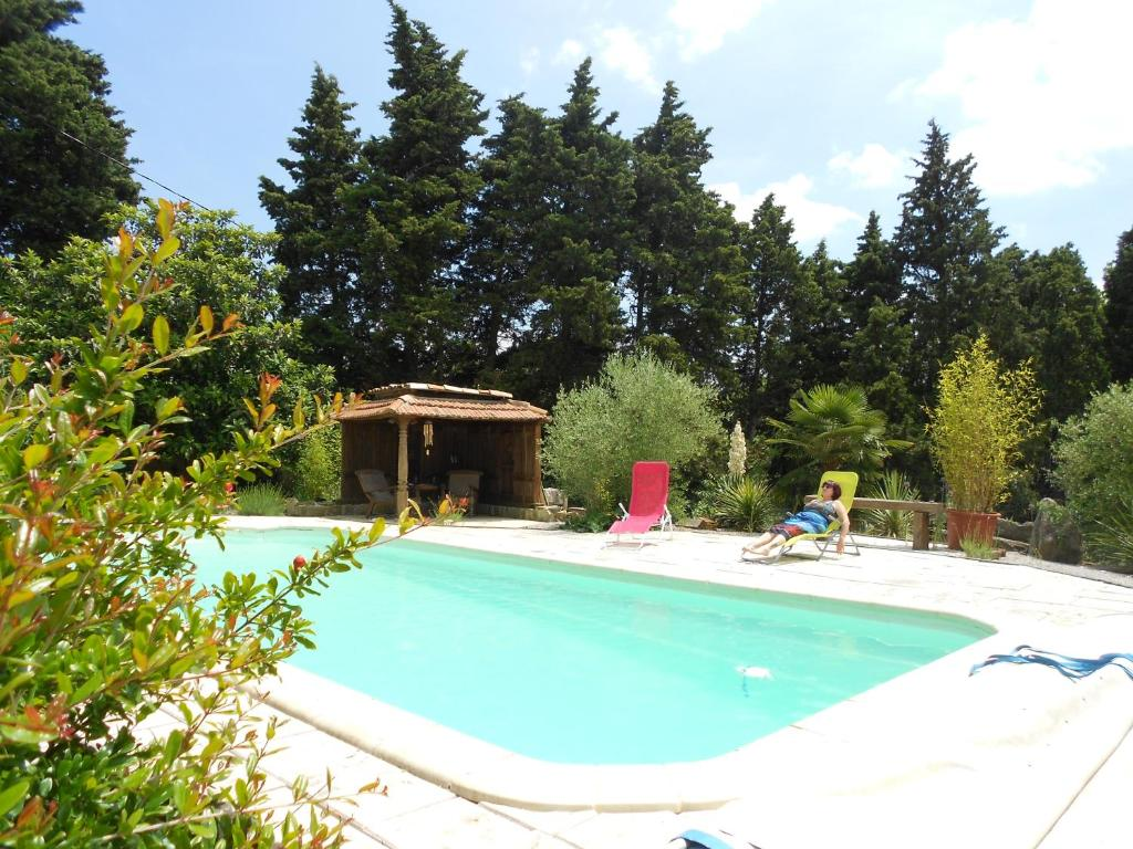 The swimming pool at or near Cammas de Bas