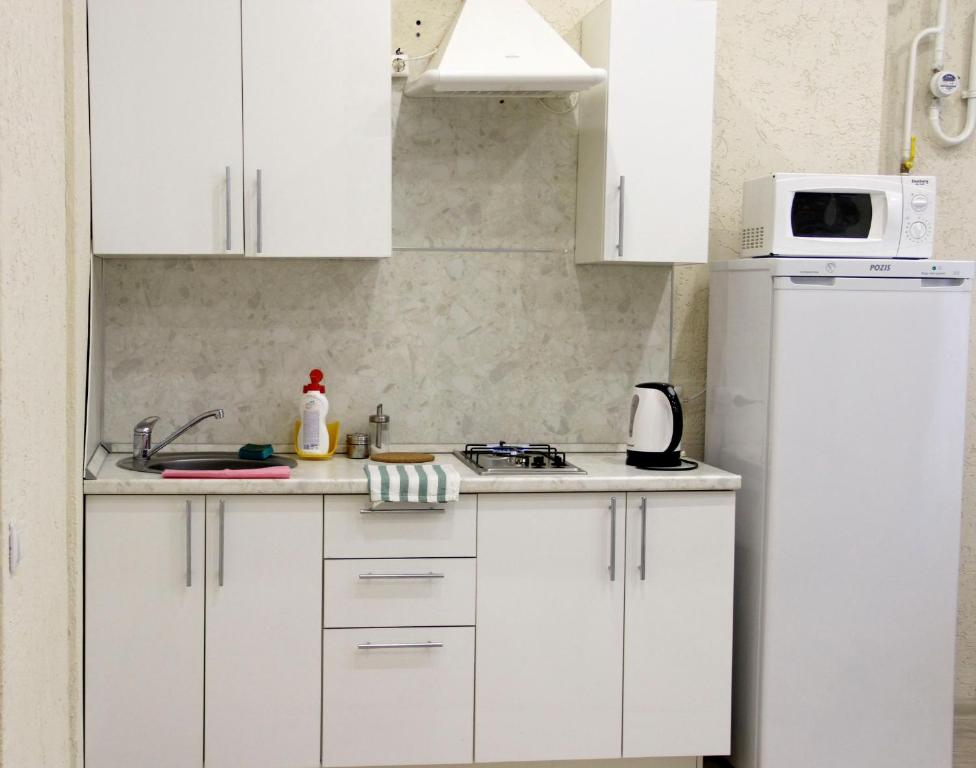 A kitchen or kitchenette at Apartment in Historical Centre