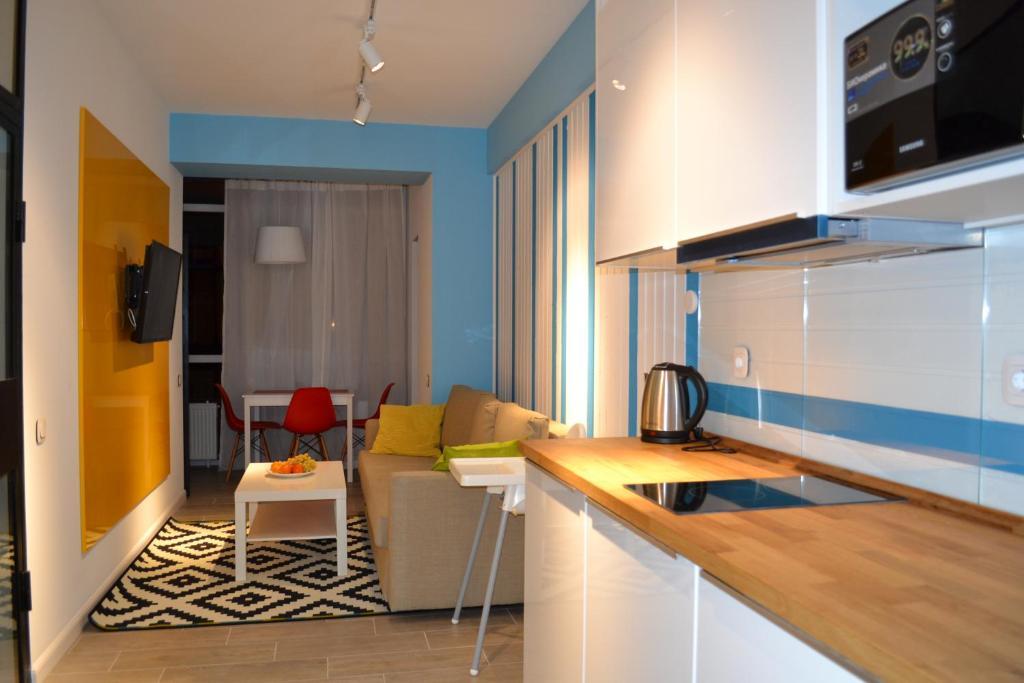 Кухня или мини-кухня в Otdyh s detmi