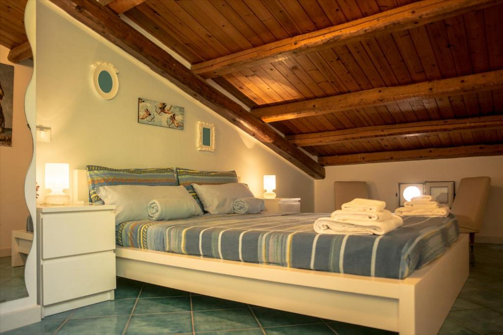 A bed or beds in a room at Azul