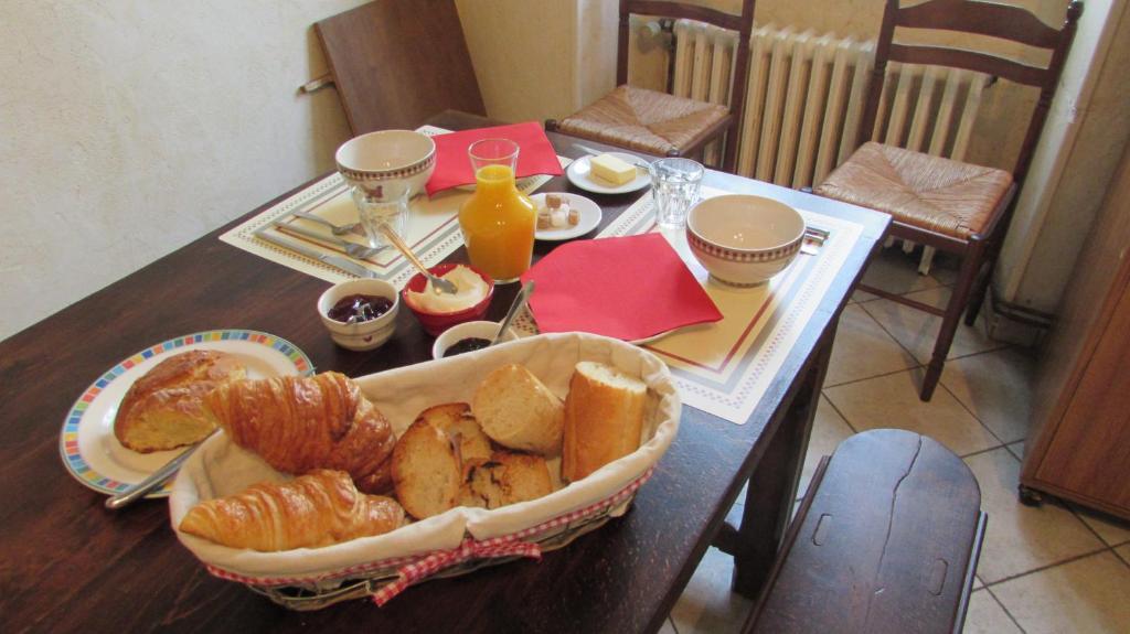 Options de petit-déjeuner proposées aux clients de l'établissement Les volcans