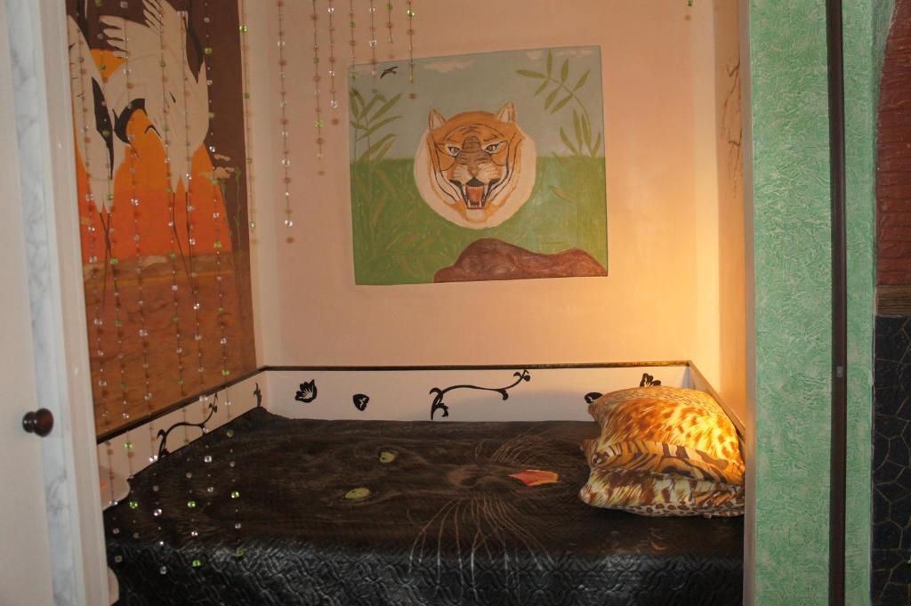 Кровать или кровати в номере Коттедж в Выборге