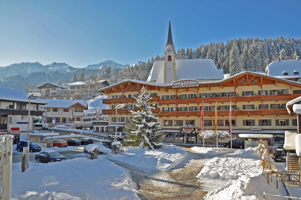 Hotel Alte Post зимой