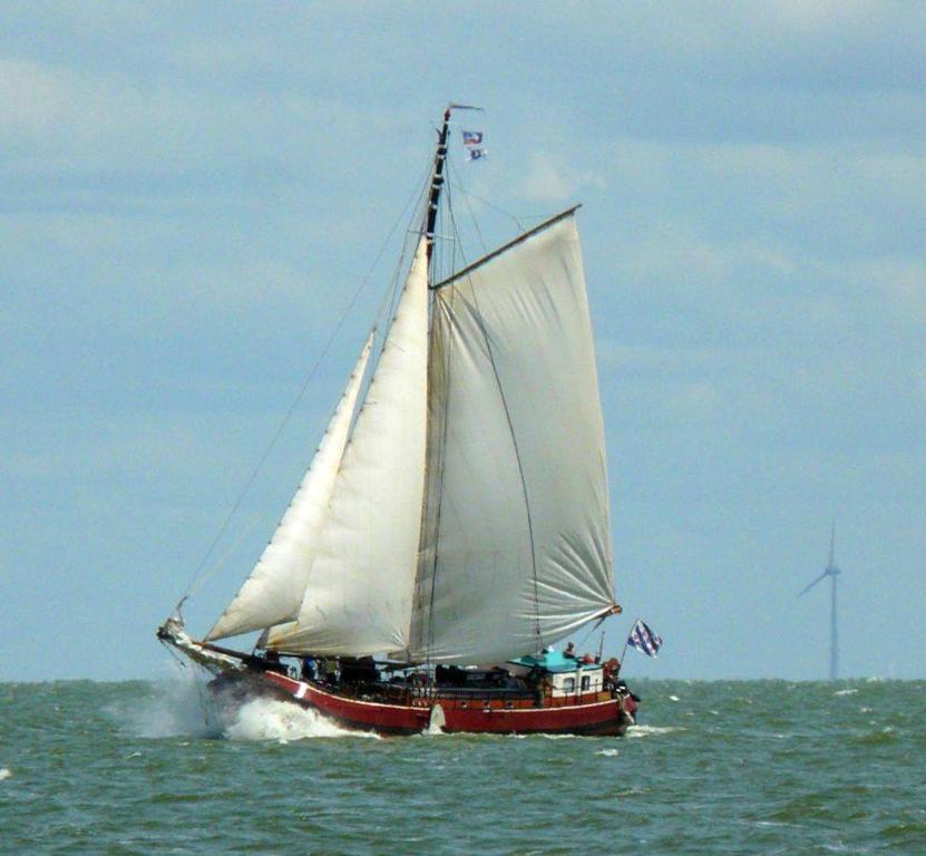 Windsurfen bij de boot of in de buurt
