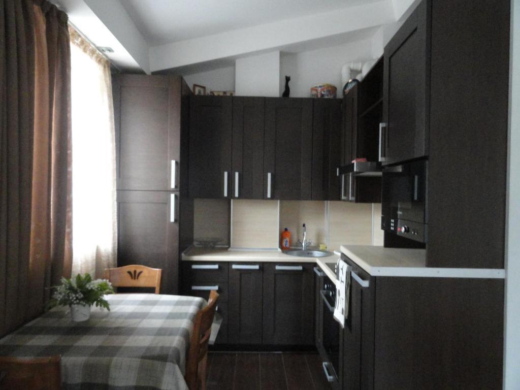 Кухня или мини-кухня в Apartment Poltavskaya 14