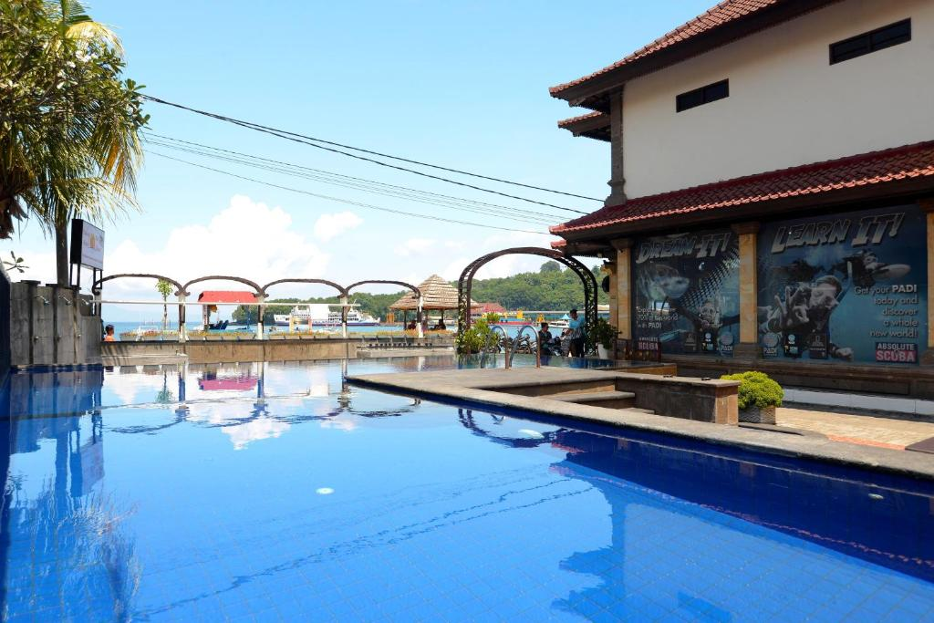 The swimming pool at or near Absolute Scuba Bali Dive Resort
