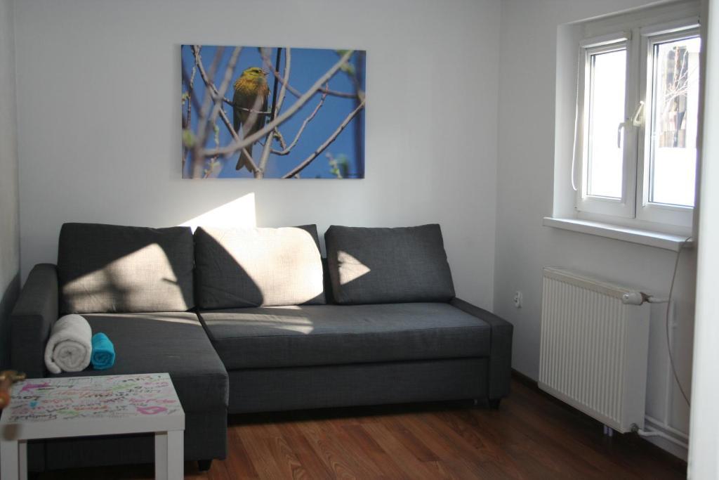 A seating area at Apartament u Sikorek