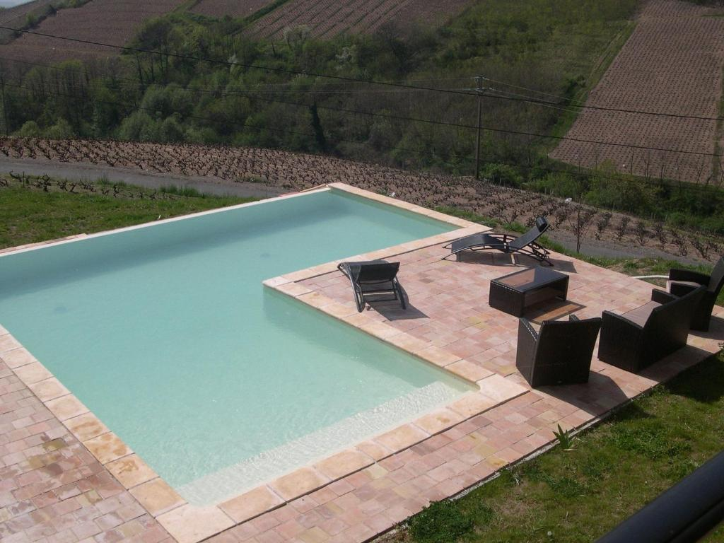 A view of the pool at Spacious Villa in Chiroubles with Swimming Pool or nearby