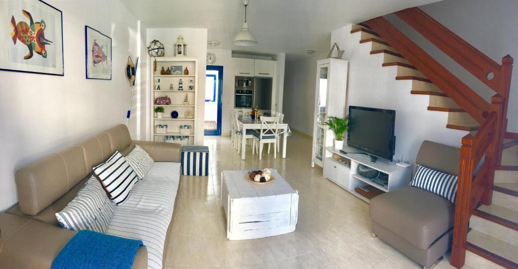 A seating area at Casa Alisios