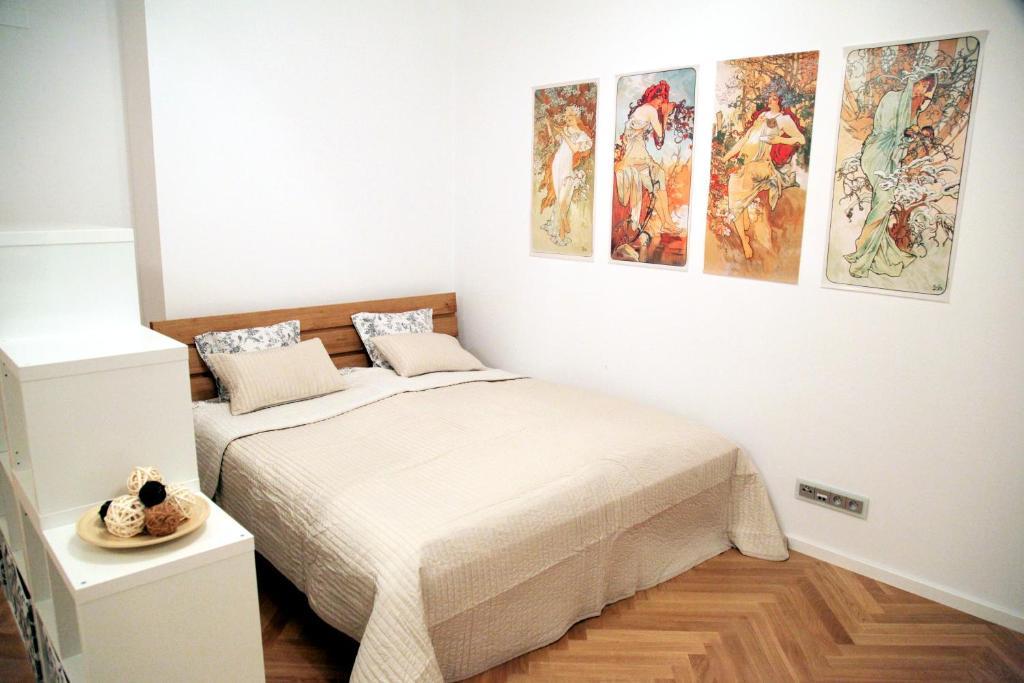 Letto o letti in una camera di Smichov apartments | PragueStars