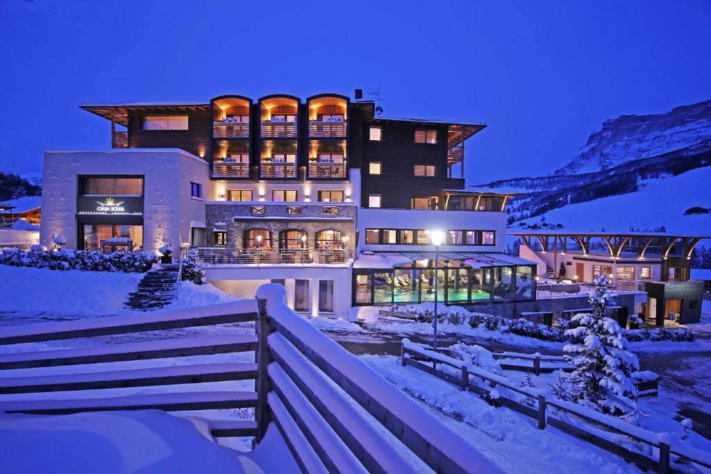 Hotel Ciasa Soleil during the winter