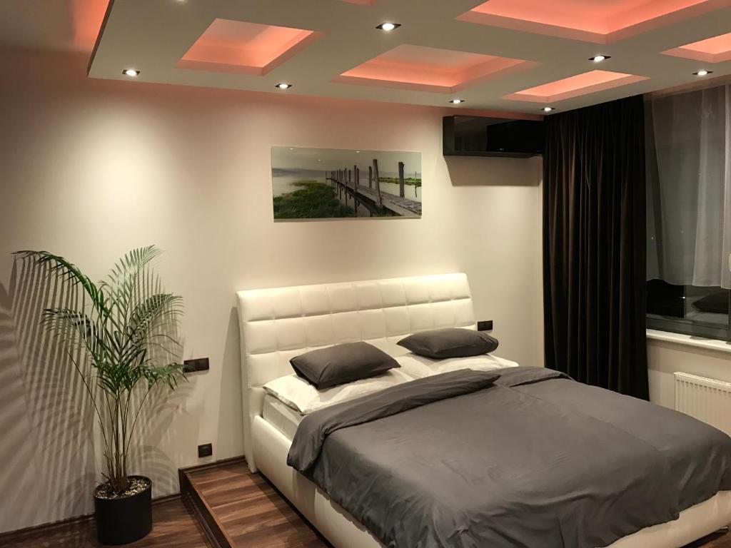 Postel nebo postele na pokoji v ubytování Apartment Lupáčova