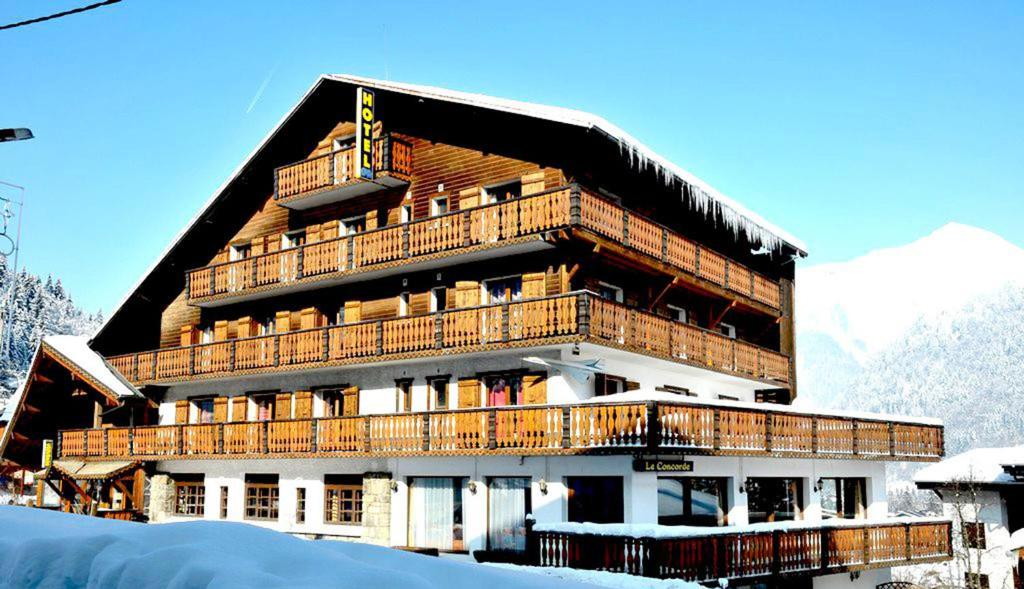 L'établissement Hotel Le Concorde en hiver