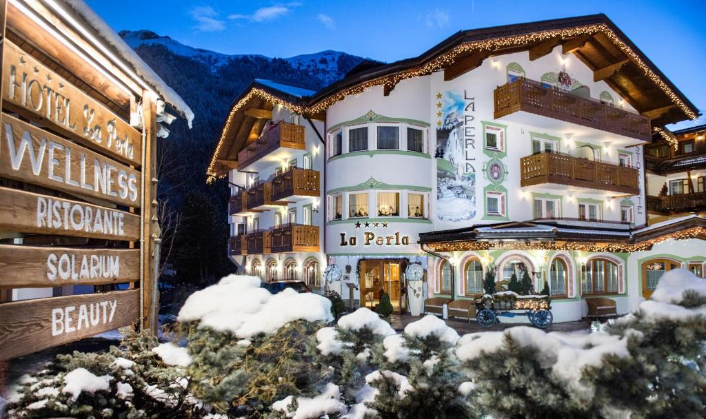 Hotel La Perla durante l'inverno