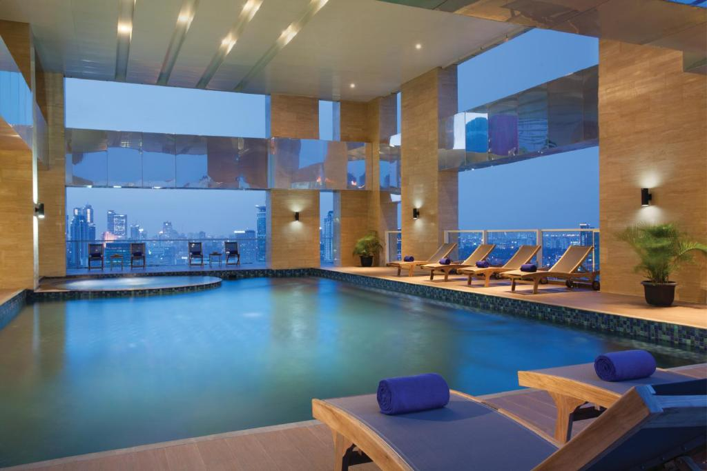 The swimming pool at or close to Citadines Rasuna Jakarta
