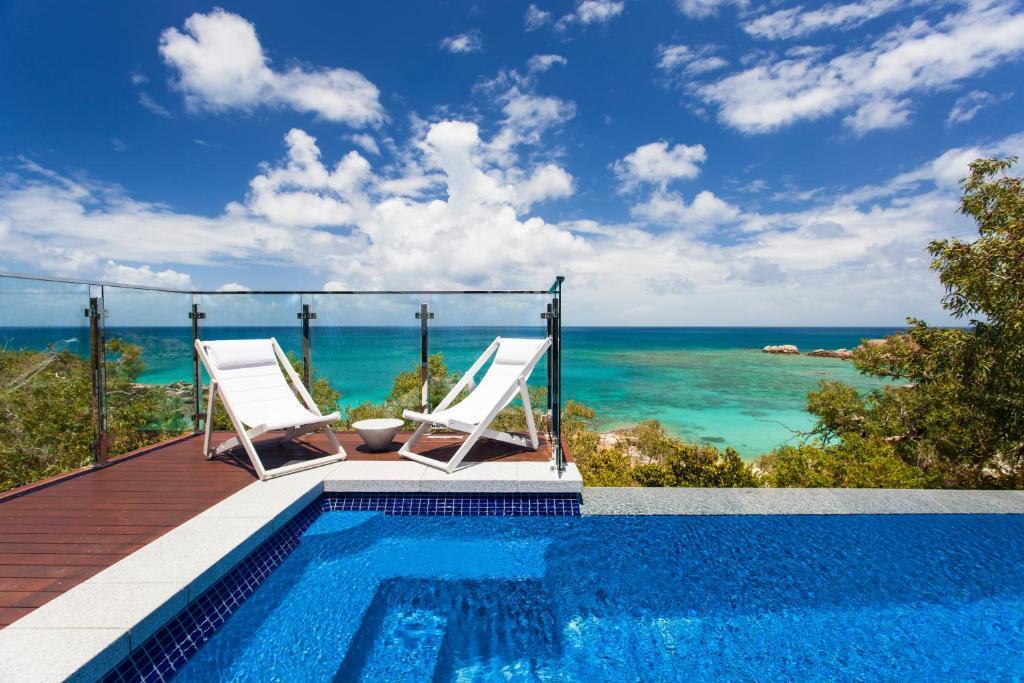 The swimming pool at or near Lizard Island Resort