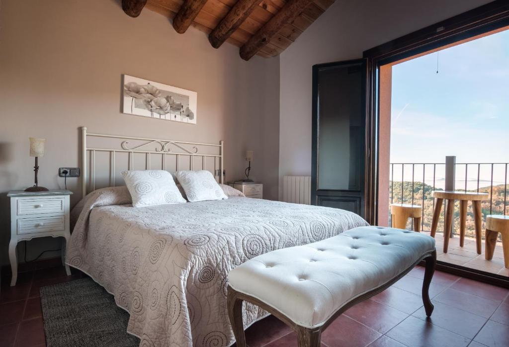 Cama o camas de una habitación en Hotel Rural La Sal